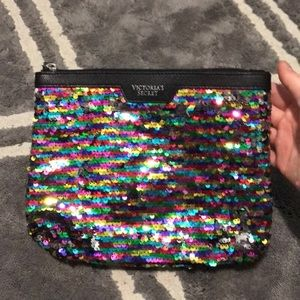 Victoria's Secret rainbow clutch bag